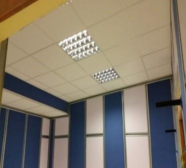 falso techo, iluminacion acustica 2 cab radio